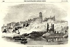 Newcastle and Gateshead Great Fire 1854 - Bonded warehouse - Bonded warehouse - Illustrated London News.jpg