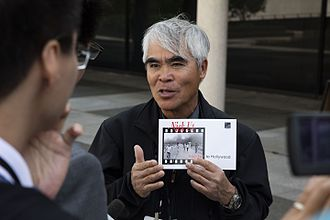 Nick Ut - Image: Nick Ut speaks with the press