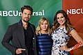 Nick Zano, Elisha Cuthbert & Kelly Brook at 2015 TCA.jpg