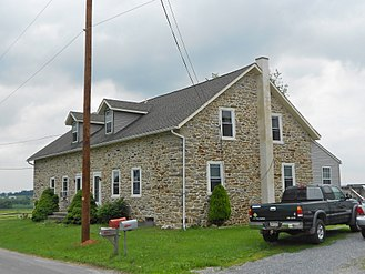 Nickel Mines, Pennsylvania - House near the crossroads of White Oaks and Mine Roads