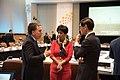 Nicolás Dujovne, ministro de Hacienda de la Argentina e Indranee Rajah, ministra de Estado de Derecho y Finanzas de Singapur.jpg