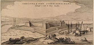 Siege of Schenkenschans - The Schenkenschans by Claes Janszoon Visscher.