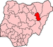 Map of Nigeria highlighting Gombe State