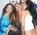 Nina Mercedez, Satine Phoenix, Leah Lexington at Evil Angel Party 1.jpg