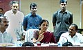 Nirmala Sitharaman addressing an interaction meeting with oil-palm farmers of state regarding provision of production incentives to oil-palm farmers, in Vijayawada, Andhra Pradesh on October 16, 2015.jpg