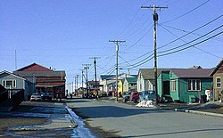Steadman Street in Nome, looking north from King Place, in May 2002