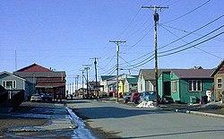 Steadman Street a Nome, guardando a nord dal re Place, maggio 2002