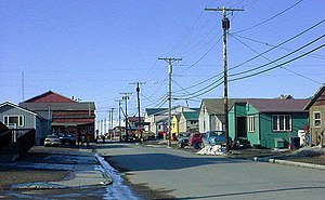 Nome, Alaska - Steadman Street facing North from Front Street. Nome in May 2002