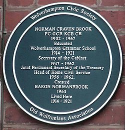 Photo of Norman Craven Brook blue plaque