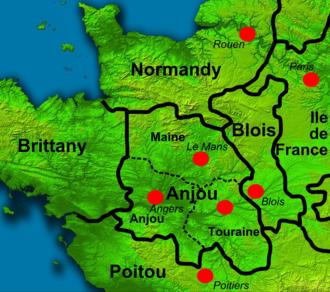 Geoffrey Plantagenet, Count of Anjou - North West France 1150