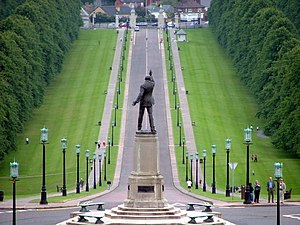 Stormont Estate - Statue of Lord Carson on Prince of Wales Avenue