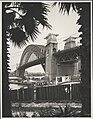 Northern abutment tower of the Harbour Bridge looking, 1932 (8282716869).jpg