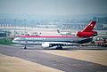 Northwest Airlines DC-10-40; N149US@LGW;14.04.1996 (5216910425).jpg