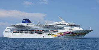 Norwegian Cruise Line - Image: Norwegian Sky Great Stirrup Cay 75