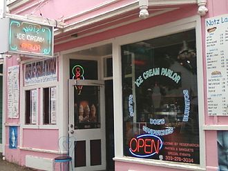 Ice cream parlor - Entry to an ice cream parlor in the United States