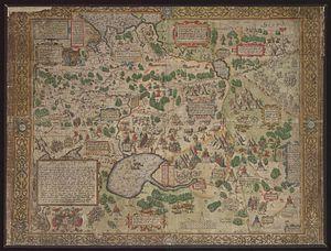 Don–Volga-Portage - Image: Nova Absolutaque Russiae, Moscoviae et Tartariae descriptio (1562)
