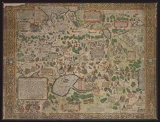 Don–Volga Portage - Image: Nova Absolutaque Russiae, Moscoviae et Tartariae descriptio (1562)