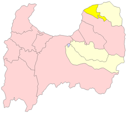 Location of Nyūzen in Toyama Prefecture