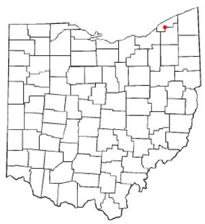 Kirtland Hills, Ohio - Image: OH Map doton Kirtland Hills