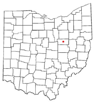 Millersburg, Ohio - Image: OH Map doton Millersburg