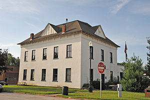 McDonald County, Missouri - Image: OLD MCDONALD COUNTY COURTHOUSE, PINEVILLE, MO