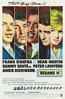 <i>Oceans 11</i> 1960 heist film directed by Lewis Milestone