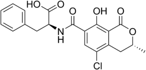 Ochratoxin A structure.png