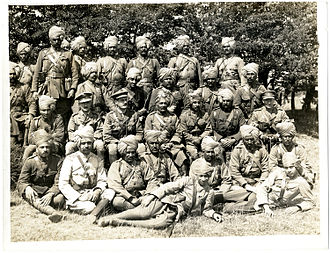 15th (Imperial Service) Cavalry Brigade - Officers of the Jodhpur Lancers serving in France, 1915