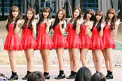 Oh My Girl at an Inkigayo fanmeeting.jpg