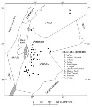 Oil shale in Jordan - Oil shale deposits in Jordan