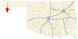 Oklahoma State Highway 171 - Image: Ok 171 path