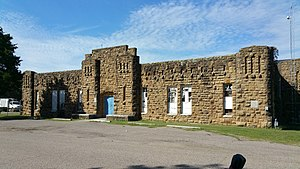 National Register of Historic Places listings in Okfuskee County, Oklahoma - Image: Okemah National Guard Armory 1