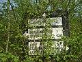 Old road sign, leaving Gwehelog - geograph.org.uk - 409645.jpg