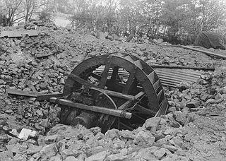 Old water wheel or turbine