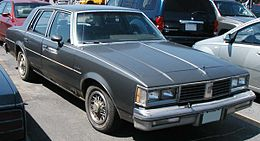 Una Oldsmobile Cutlass Supreme coupé del 1981