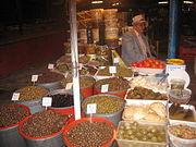 Olive stall at Sheshi Avni Rustemi.jpg