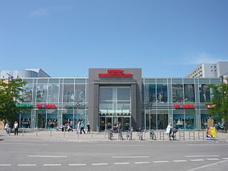Olympia-Einkaufszentrum shopping mall in the Moosach district of Munich, Germany
