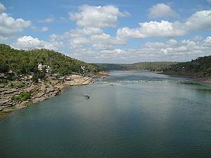Narmada River - Narmada river in Omkareshwar