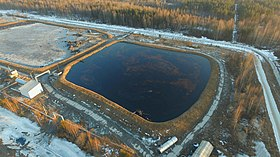 Open card with liquid waste at Krasnyi Bor by bxqtsar 2015.jpg