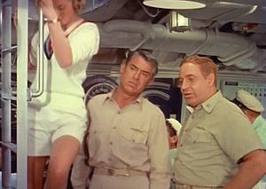 Robert Gist - From Operation Petticoat (1959). L-R: Dina Merrill, Cary Grant and Robert Gist