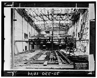 Oriental Theatre (Portland, Oregon) - The theater while under construction, August 1927