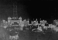 Luna Park, Osaka, one of two Japanese Luna Parks, was open to the public from 1912 to 1923. The original Tsutenkaku Tower was completed at the same time as the amusement park.
