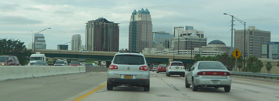 Orlando, Florida - Downtown from I-4 East
