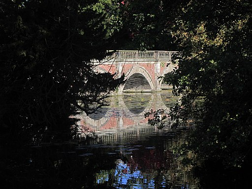 Ornamental bridge across lake at Capesthorne Hall-geograph-4755228-by-Colin-Park