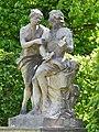 Orpheus and Eurydice - Skulptur im Barockgarten Grosssednitz.JPG