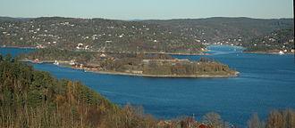 Oscarsborg Fortress - Image: Oscarsborg fortress, from southwest