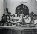 Ostad Alauddin Khan at Karjon Hall 1955.png