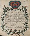 Oswiadczenie adepta do zakonu benedyktynów w Lubiniu (03).jpg