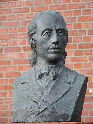 Johann Heinrich Voss - Bust of Johann Heinrich Voss in Otterndorf