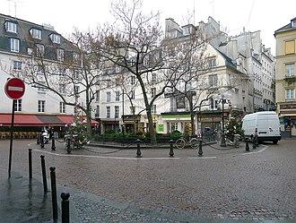 Benalla affair - The Place de la Contrescarpe in Paris, where the assault took place
